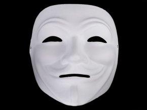 Maska na obličej k domalování anonymous