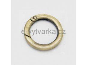 Karabina kruhová, pr.35 mm - starozlato