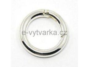 Karabina kruhová, pr.25 mm - stříbrná