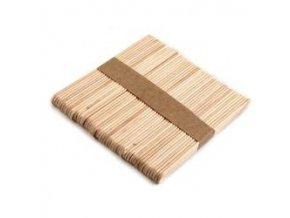 Dřevěné špachtle 0,9x11,4 cm malé, 50ks