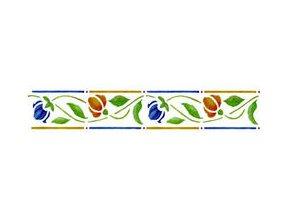 Motivová šablona BRICO Home Design (11x70 cm) - tulipány