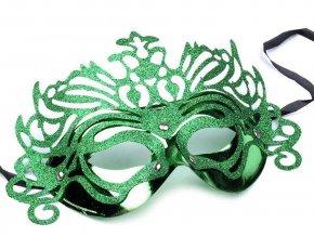 Karnevalová maska Wind - zelená