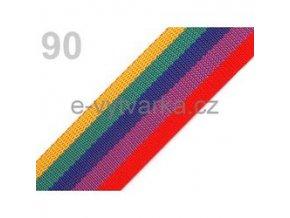 Popruh polypropylén š.50mm (5m) - pestrobarevná