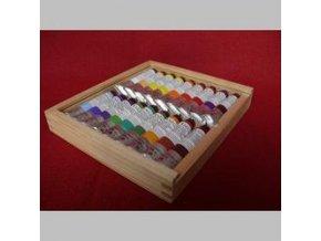 Sada olejových barev UMTON - 18 x 20 ml, kazeta s plexisklem