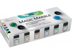 Sada Mramorovací barva Magic Marble základní 6 x 20 ml