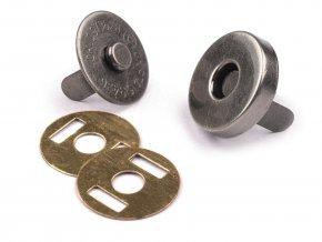 Zapínání magnet pr. 14 mm - černý nikl (5 sad)
