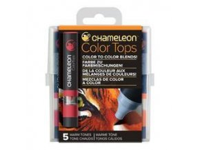 Chameleon Color Tops  - tónovací fixy - Sada Warm Tones - 5KS - barevné nástavce