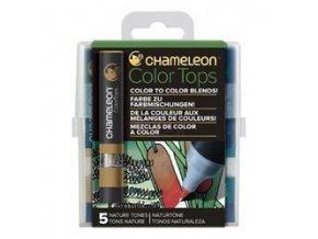 Chameleon Color Tops  - tónovací fixy - Sada Nature Tones - 5KS - barevné nástavce