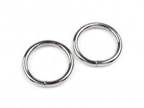 Kroužek jednoduchý pr.25mm (10ks) - nikl