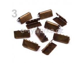 Koncovka na popruh 9x20mm (10ks) - staromosaz