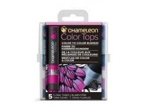 Chameleon Color Tops  - tónovací fixy - Sada Floral Tones - 5KS - barevné nástavce