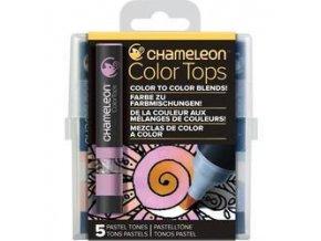 Chameleon Color Tops  - tónovací fixy - Sada Pastel Tones - 5KS - barevné nástavce