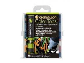 Chameleon Color Tops  - tónovací fixy - Sada Earth Tones - 5KS - barevné nástavce