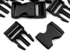 Spona trojzubec š. 25 mm (5sad) - černá