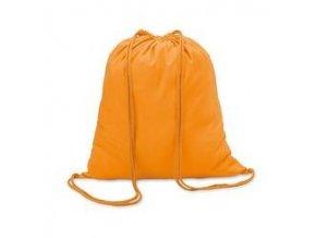 Bavlněný vak se šňůrou - oranžový