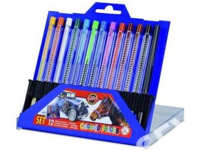 Sada plastových pastelek Koh-I-Noor Scala (12 ks)