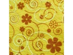 Dekorativní plsť / filc květy 1ks, 30x40x0,1cm