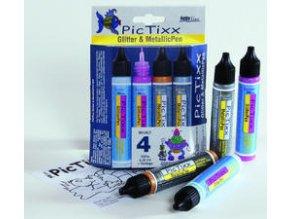 Sada Hobby Line PicTixx Pen, glitrové a metalické