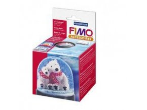 FIMO Kulatá sněhová koule - těžítko