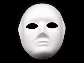 Maska na obličej, dámská papírová (18x22 cm)