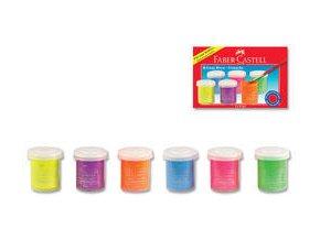 Temperové barvy Faber-Castell 15ml 6 barev, neonové