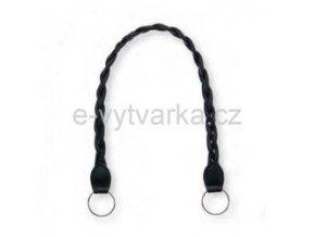 Ucho na tašku Hoooked - 62 x 2 cm; černá