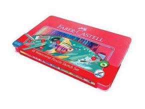 Pastelka akvarelová Faber-Castell, dárkový box 48ks