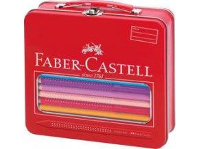 Pastelka Faber-Castell Jumbo GRIP dárkový kufřík Cirkus 18ks+příslušenství