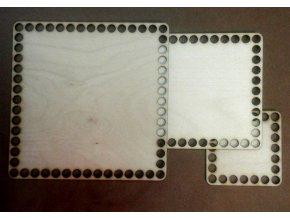 Dno na háčkování čtvercové 10mm dírky - 3 rozměry