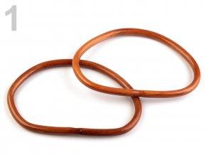 Bambusová ucha na tašky 12x18 cm - 3 barvy