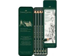 Grafitová tužka Castell 9000 Jumbo plechová krabička