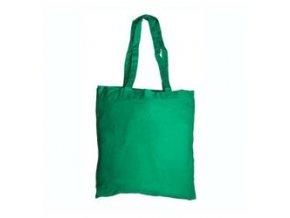 Bavlněná taška 38x41cm, dlouhá ucha - zelená