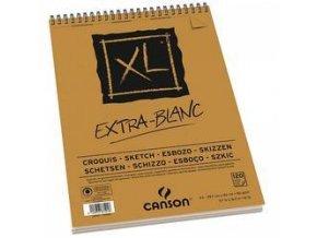Blok Canson XL Extra White kroužkový - A5, A4, A3 (90g/m2)