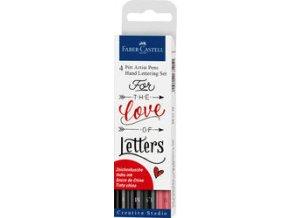 Popisovač PITT artist pen Brush 4ks, Love