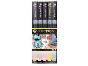 Fixy Chameleon sada 5ks pastelové barvy 501