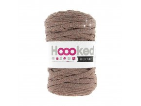Hoooked RibbonXL - Lurex Copper Wood Glitter (85 m)
