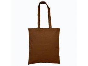 Bavlněná taška 38x42cm, dlouhá ucha - hnědá