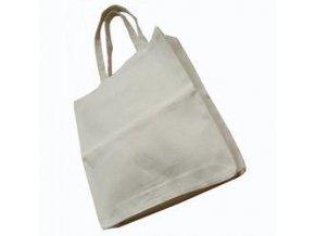 Bavlněná taška s klínem 38x40cm, dlouhá ucha - přírodní