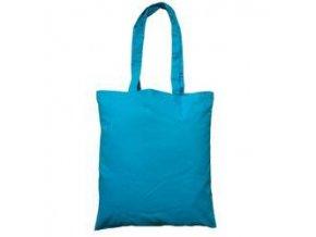 Bavlněná taška 38x42cm, dlouhá ucha - tyrkys