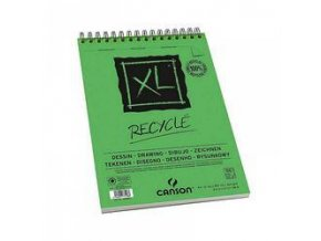 Blok Canson XL Recycled kroužkový - A5, A4, A3 (160 g/m2)