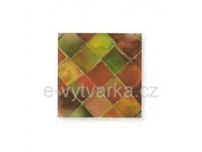 Skleněná mozaika, 10x10 mm (200 ks) - červená/zelená