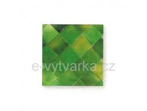 Skleněná mozaika, 10x10 mm (200 ks) - zelená
