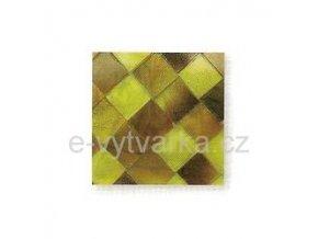 Skleněná mozaika, 10x10 mm (200 ks) - žlutá/hnědá