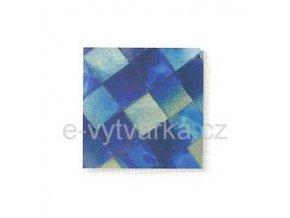 Skleněná mozaika, 10x10 mm (200 ks) - modrá