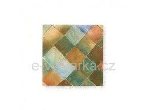 Skleněná mozaika, 10x10 mm (200 ks) - růžová/tyrkysová