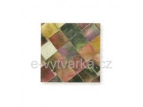Skleněná mozaika, 10x10 mm (200 ks) - červená/lila