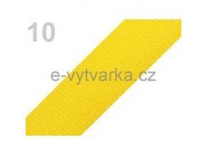 Popruh polypropylén š.40mm (5m) - sytá žluť