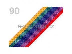 Popruh polypropylén š.40mm (5m) - pestrobarevná