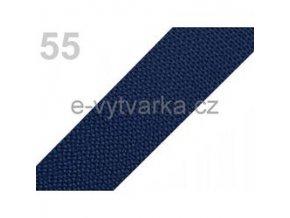 Popruh polypropylén š.40mm (5m) - modrá tm.