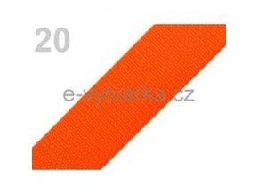 Popruh polypropylén š.40mm (5m) - oranžová
